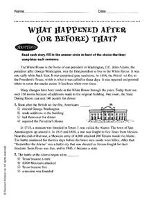 What Happened After (Or Before) That? Worksheet
