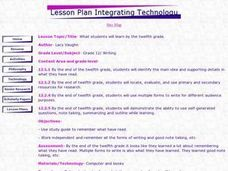 What Have We Learned? Lesson Plan