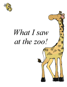 What I Saw At The Zoo Worksheet