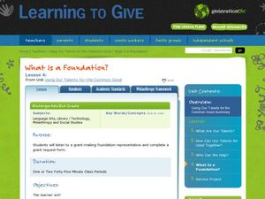 What Is a Foundation? Lesson Plan