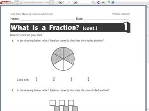 What is a Fraction? Worksheet