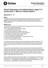 What is a Global Citizen? Lesson Plan