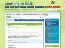 What is a Hero?  Heroism in Greek Mythology Lesson Plan
