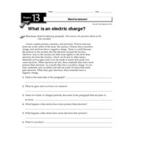 What is an Electric Charge? Worksheet