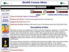 What is Cholesterol? Lesson Plan