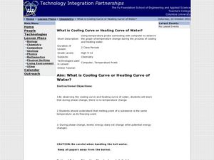 What is Cooling Curve or Heating Curve of Water? Lesson Plan