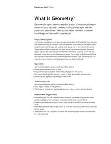 What Is Geometry? Lesson Plan