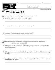 What is Gravity? Worksheet