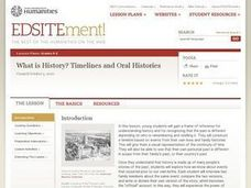 What is History? Timelines and Oral Histories Lesson Plan