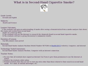 What is in Second-Hand Cigarette Smoke? Lesson Plan