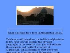 What is life like for a teen in Afghanistan today? Lesson Plan