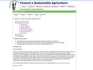 What is Organic Agriculture?? Lesson Plan