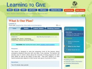 What Is Our Plan? Lesson Plan