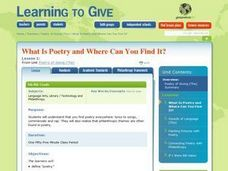 What is Poetry and Where Can You Find It? Lesson Plan