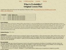 What is Probability? Original Lesson Plan Lesson Plan