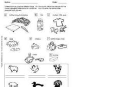 What is Produced from Animals? Worksheet