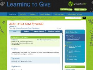 What Is the Food Pyramid? Lesson Plan