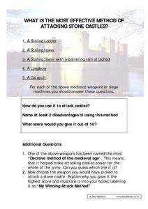 What is the Most Effective Method of Attacking Stone Castles? Worksheet