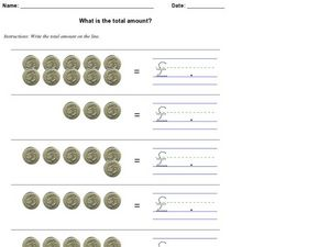 What Is the Total Amount? - British Pounds Worksheet