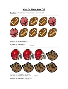 What is There More Of? Sports Worksheet