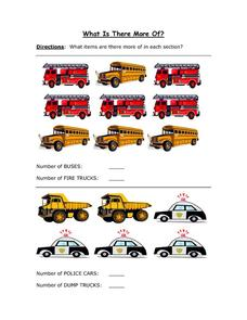 What is There More Of: Transportation Worksheet