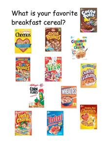 What Is Your Favorite Breakfast Cereal? Worksheet