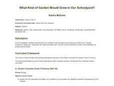 What Kind of Garden Would Grow in Our Schoolyard? Lesson Plan