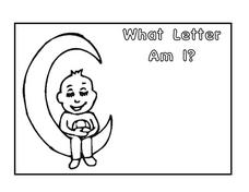 What Letter Am I? Letter C Coloring Page Worksheet