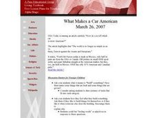 What Makes a Car American? Lesson Plan