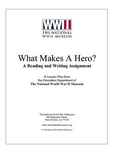 What Makes a Hero?  A Reading and Writing Assignment Lesson Plan