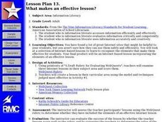 WHAT MAKES AN EFFECTIVE LESSON Lesson Plan