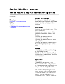 What Makes My Community Special Lesson Plan
