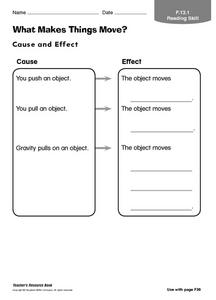 What Makes Things Move? Worksheet