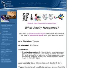 What Really Happened? Lesson Plan