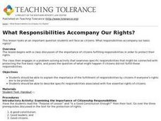 What Responsibilities Accompany Our Rights? Lesson Plan