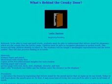 What's Behind the Creaky Door? Lesson Plan