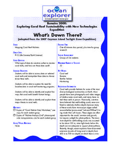 What's down there? Lesson Plan