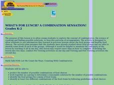 What's For Lunch?  A Combination Sensation! Lesson Plan