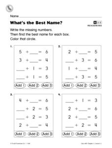 What's the Best Name? Worksheet