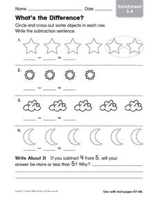 What's the Difference? Enrichment 3.4 Worksheet