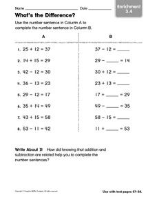 What's the Difference? Worksheet