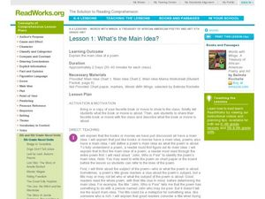What's the Main Idea? Lesson Plan