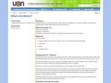 What's the Matter? (Experiments) Lesson Plan