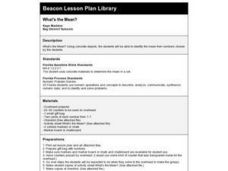 What's the Mean? Lesson Plan
