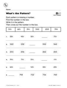 What's the Pattern? Worksheet