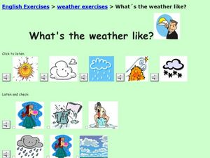 What's the weather like? Worksheet
