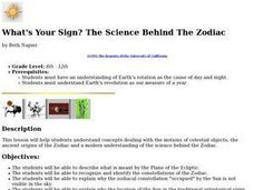 What's Your Sign?  The Science Behind The Zodiac Lesson Plan