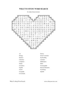 WHAT TO STUDY WORD SEARCH Worksheet