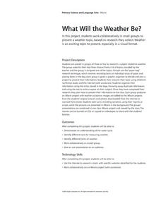 What Will the Weather Be? Lesson Plan