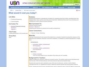 What Would it Cost You Today? Lesson Plan
